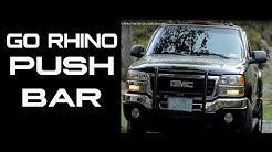 Go Rhino Push Bar On a GMC Sierra HD