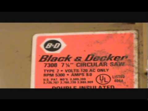 Black decker 7 14 circular saw youtube black decker 7 14 circular saw greentooth Choice Image