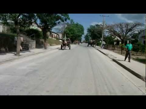 "Driving through ""downtown"" Fray Benito, Holguin Province, Cuba"
