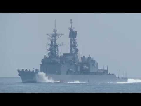 107-04-13 基隆級(紀德級)飛彈驅逐艦DDG-1801基隆艦出進港