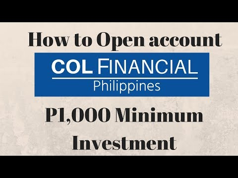 1k Minimum investment - Paano mag Register sa COL Financial - 1st step sa Stock Market for Beginners