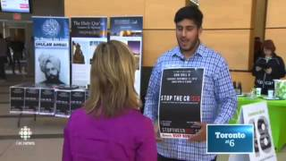 "CBC Toronto: Ahmadiyya Muslim Students ""Stop the crISIS"""