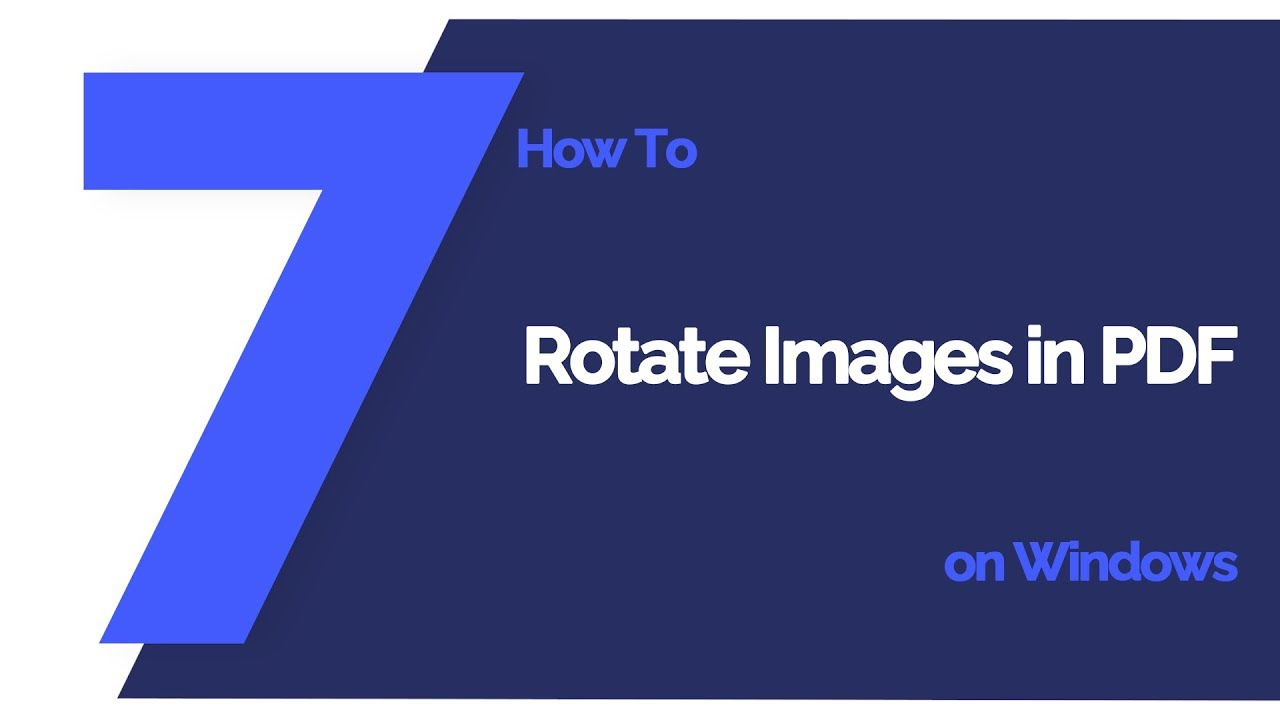 How to Rotate Images in PDF on Windows | PDFelement 7