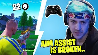 NINJA REACTS TO PRO CONSOLE PLAYER ALMOST KILLING HIS WHOLE SQUAD! *MAD*