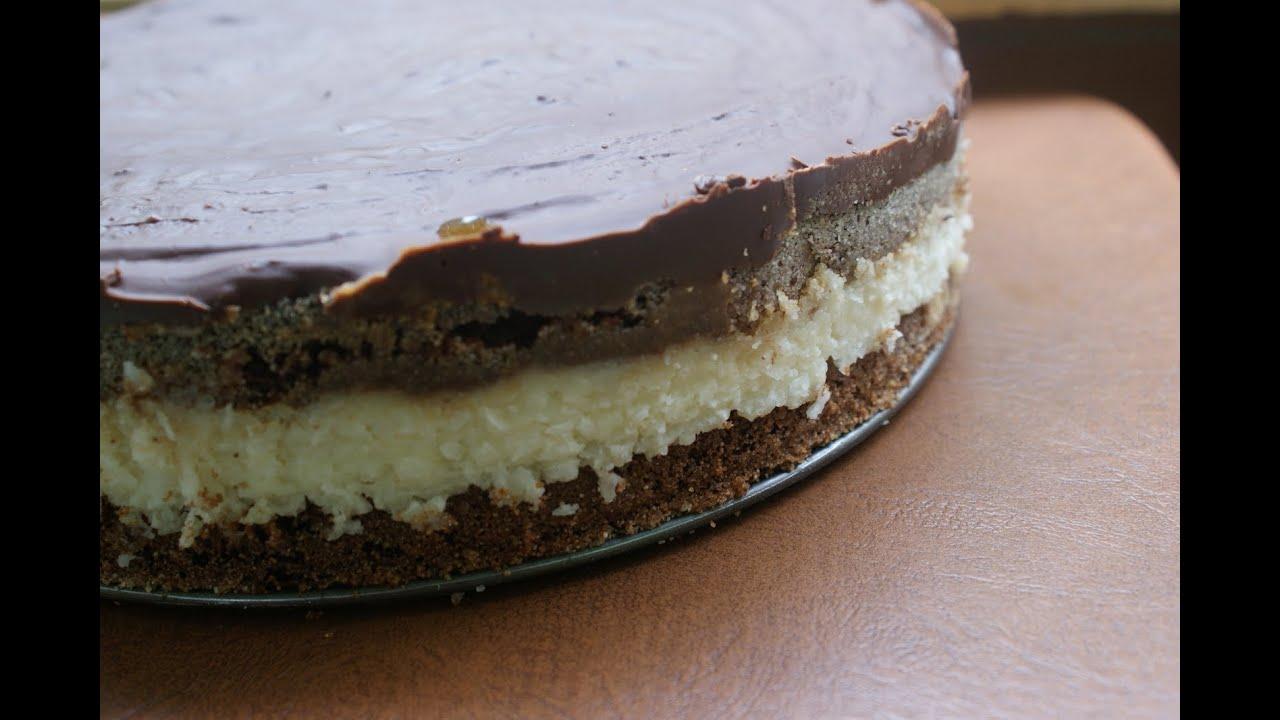 Торт Баунти - рецепт с фото. Шоколадный бисквит с кокосовой