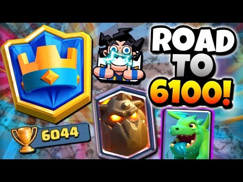 GOAL REACHED! ROAD TO 6100 TROPHIES! | Clash Royale | BEST LAVA HOUND E-DRAGON DECK!