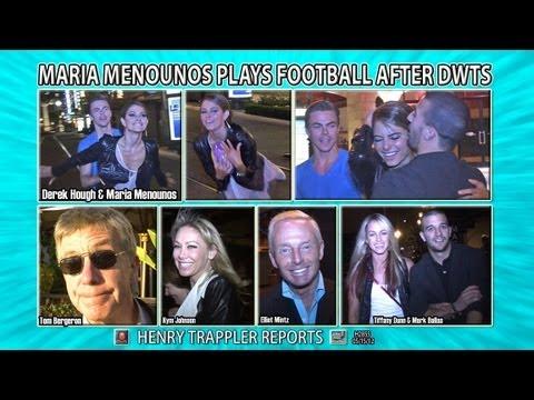 Maria Menounos Plays Football After DWTS H2855