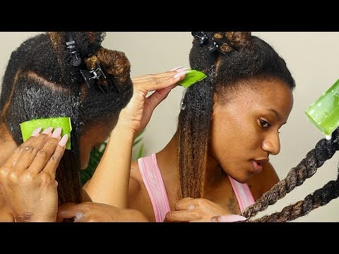 I TRIED ALOE VERA GEL ON MY HAIR?! HAIR GROWTH & MOISTURE