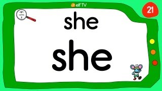 Sight Words for Kindergarten #2 - Vocabulary Words by ELF Learning