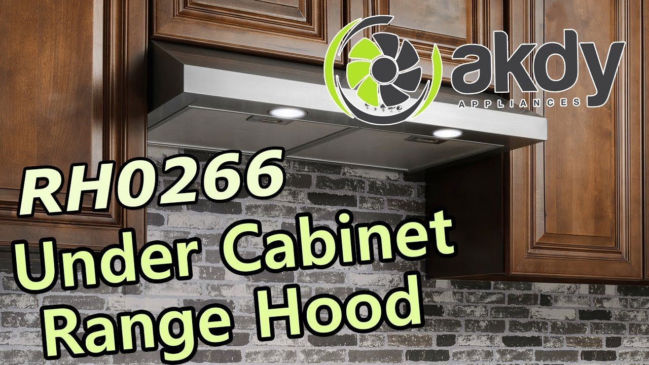 Akdy Under Cabinet Mount Range Hood Model Rh0266 Product Showcase