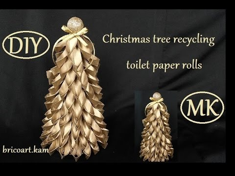 Diy christmas tutorial how to christmas tree recycling for How to make a tree out of toilet paper rolls