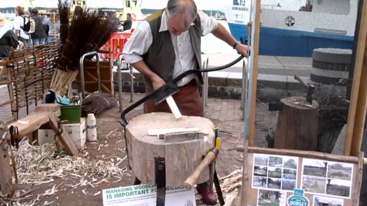 & Wooden Tent Peg Making - YouTube