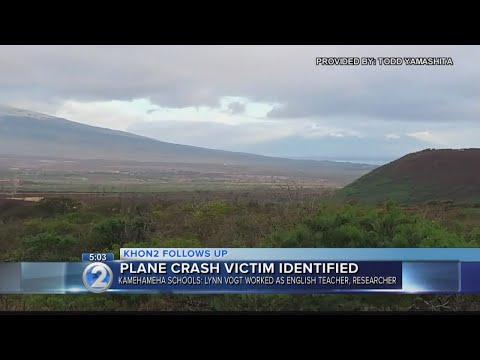 Plane crash victim identified as Kamehameha Schools teacher
