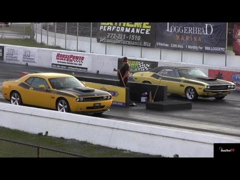 Challenger SRT8 vs 340 Six Pack Challenger T/A - Old vs New - 1/4 Mile - Road Test TV ®