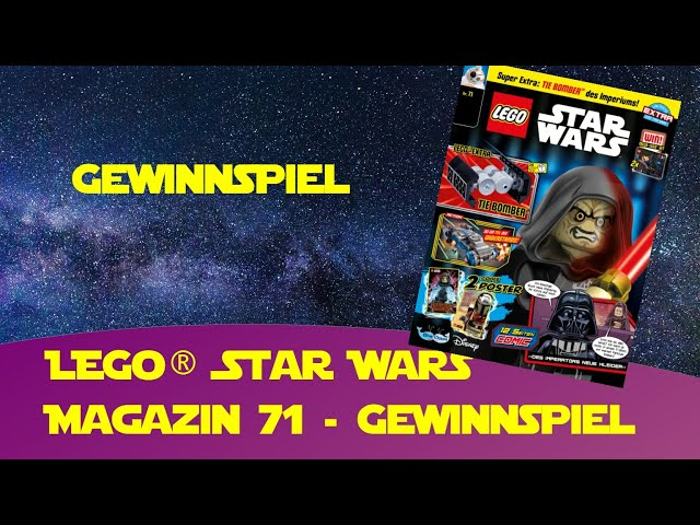 Lego Star Wars Magazin Heft 71 Tie Bomber + Gewinnspiel + Aufbau bei Bayernbrickz