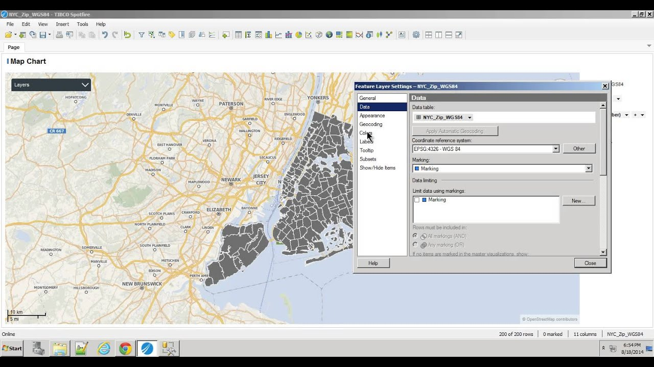 spotfire 6 5 nyc open data 311 in database example youtube