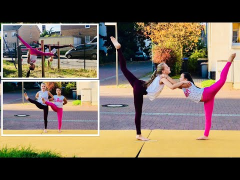 Tanzen und turnen 💃 dance gymnastics Boden Kür und Reck Kür 🤸♂️ Leonie und Haley