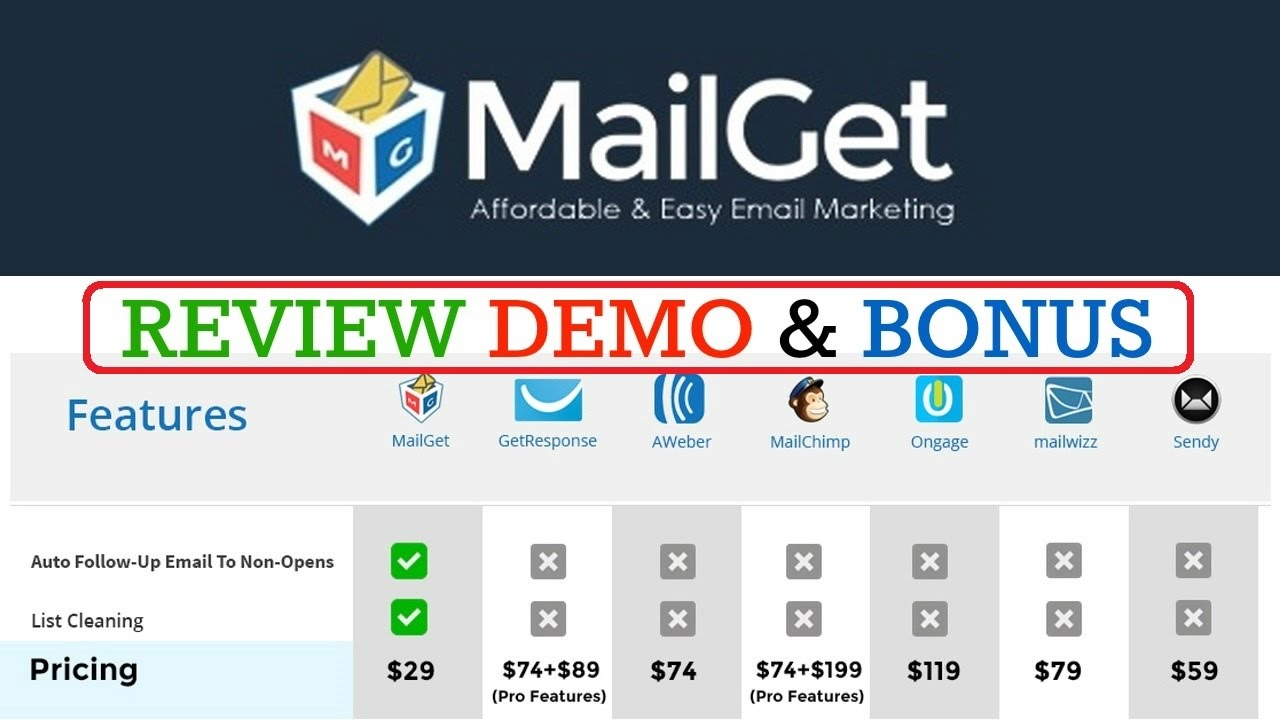 MailGet Review Demo Bonus - Affordable Email Marketing Service