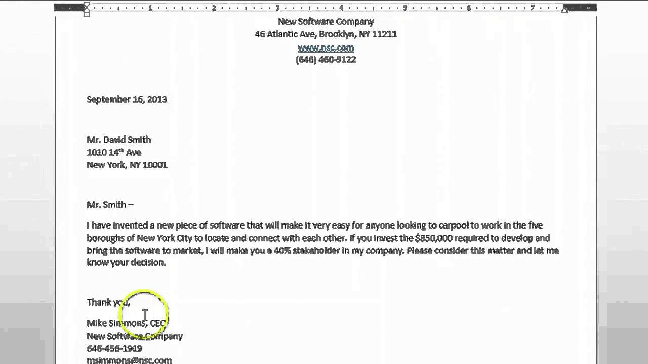How to Write a Proposal in Microsoft Word Microsoft Office Help – Ms Word Proposal Template