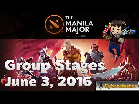 [Thai Stream] DotA2 Manila Major Group Stages June 3, 2016 by Cyberclasher
