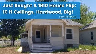 1910 House Flip With 10 Foot Ceilings, Built-ins, and Hardwood Floors Just Bought 5/26/2020