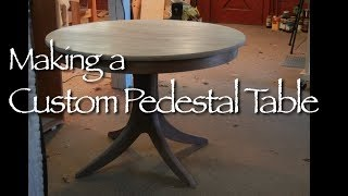 Pedestal Table Building Process By Doucette And Wolfe Furniture Makers Custom Made Tables