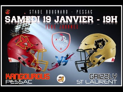 D2 - 2ème journée : Kangourous Pessac Vs Grizzlys Catalans de Saint Laurent de la Salanque