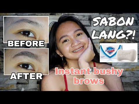 INSTANT BUSHY BROWS OR FEATHERY BROWS TUTORIAL (Tagalog)   Philippines thumbnail