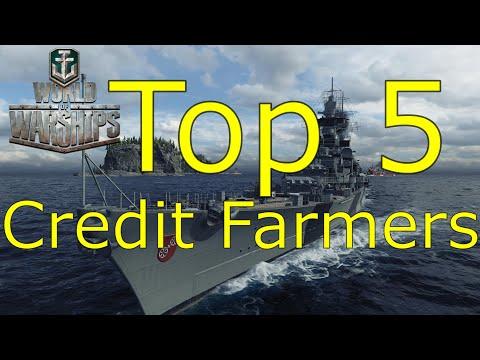 World of Warships- Top 5 Credit Farming Ships