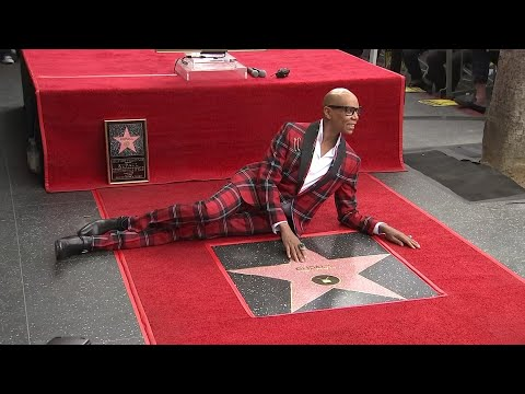 RuPaul honored with star on Hollywood Walk of Fame