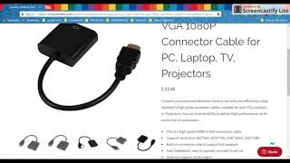 hdmi cable for projector to laptop