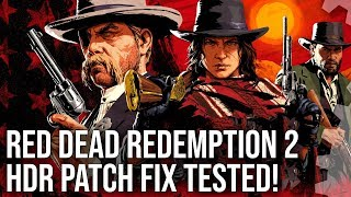 [4K HDR] Red Dead Redemption 2 HDR Fix Tested! Plus Graphics 'Downgrade' Analysis