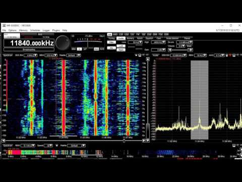 11840 KHZ AM Radio Havanna Cuba Sign off Winradio Excalibur Pro Welbrook loop
