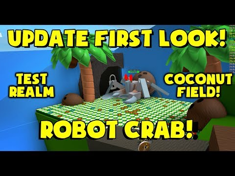 COCONUT FIELD! ROBOT CRAB! WOW! - Bee Swarm Simulator