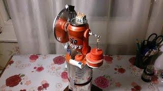 Двигатель стирлинга с генератором(испытания)