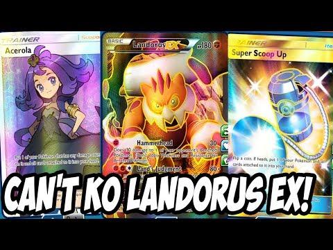 Can't KO Landorus EX! Landorus EX Deck FT Acerola & Super Scoop Up! Expanded PTCGO Deck