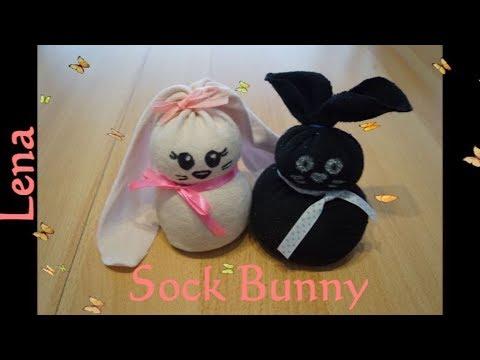 diy-socken-hasen-machen-🐰-diy-sock-bunny-diy-🐰-зайчики-из-носков-своими-руками