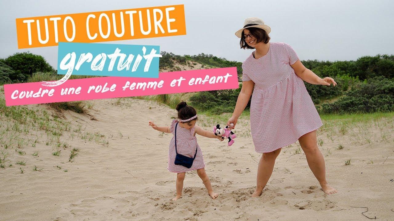 8ead7890f8b9 Tuto   coudre une robe pour femme ou enfant - couture débutant - YouTube