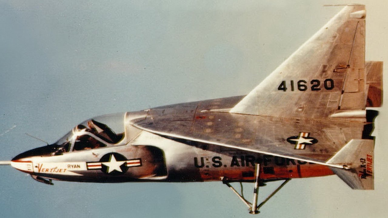 Ryan X-13 Vertijet Experimental VTOL Air Force Aircraft