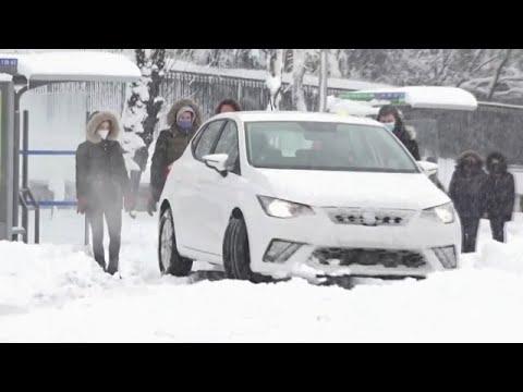 Spain hit by unprecedented snow storm
