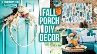 FALL PORCH DECOR DIY | Boho Aesthetic | Dollar & Thrift Store