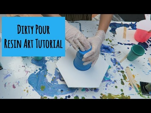 Dirty Pour Resin Art Tutorial | Timelapse Resin Art Tutorial