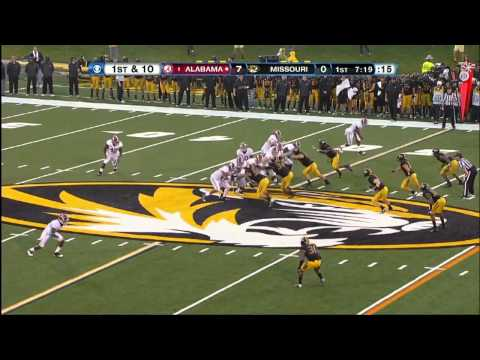 10/13/2012 Alabama vs Missouri Football Highlights