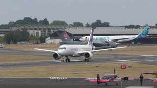 Whisperjet Airbus A220 and Atlas A400M at Farnborough 2018 airshow