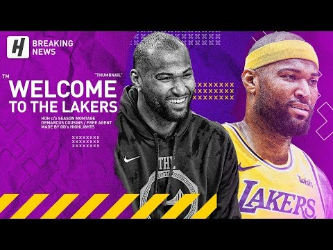 DeMarcus Cousins Signs with the Lakers! BEST Highlights & Moments from 2018-19 NBA Season!