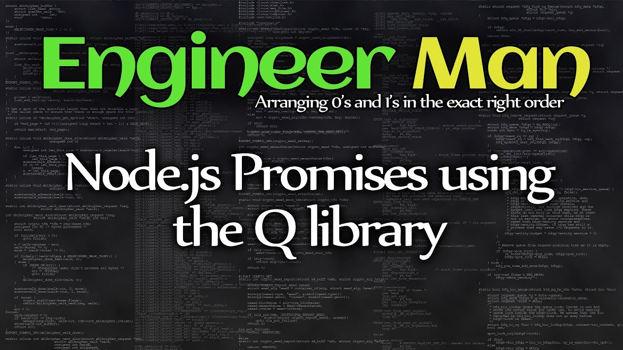 Node js Promises using the Q library