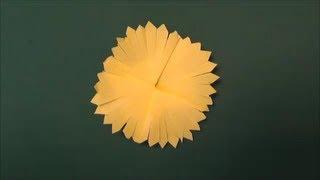 タンポポを折り紙で作りました。The dandelion was made from origami. ...