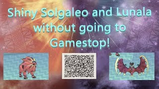 How to get Shİny Lunala & Solgaleo without going to Gamestop! (Event Over)