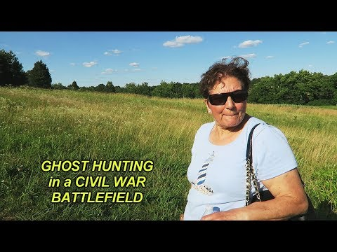Angelo's Mom Goes Ghost Hunting at Bull Run Battlefield