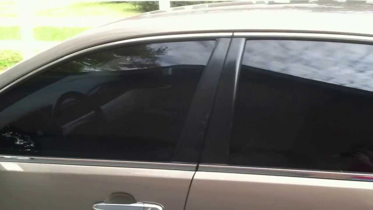 2007 impala with 20 percent window tint and a 5 percent